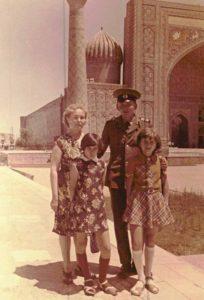 Мама, Толик, Сусанна, Ленара, Самарканд. 1977 год.