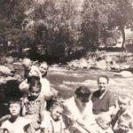 Анна Ивановна, Татьяна Ивановна, Вова, Толик, Олег. Гава, 1959 год.