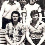 С двоюродными братьями и сестрой. 1983 г.