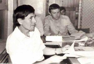 В литературном кружке. 1986 год.