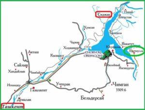 Дорога Ташкент - Сиджак